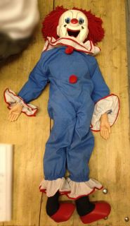 Clown Ventriloquist Doll Larry Harmon Pictures Eegee Marionette