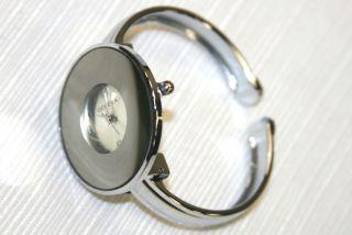 Geneva Classy Large Faced Silver Wristwatch New Watch