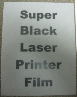 New Super Black Laser Film 100 Sheets Box 8 5x11