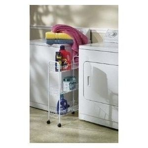 Utility Kitchen Home Work Laundry Storage Cart on Wheels