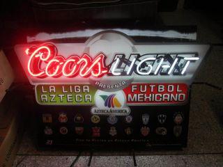 Coors Light La Liga AZTECA Futbol Mexicana NEON SIGN For Arcade Man