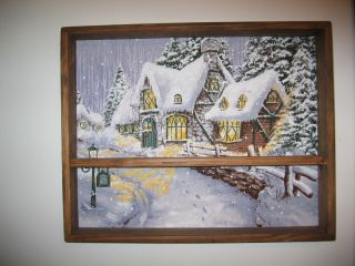 Wall Mounted Winter Scene Large Shadow Box Made in USA