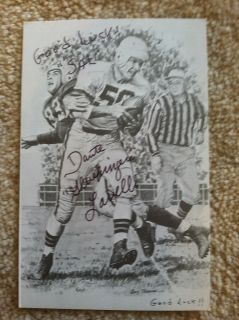 Dante Gluefingers Lavelli Signed Postcard Pro Football Hall of Fame