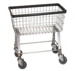 Economy Laundry Cart 2 1 2 Bushel on Wheels w Basket