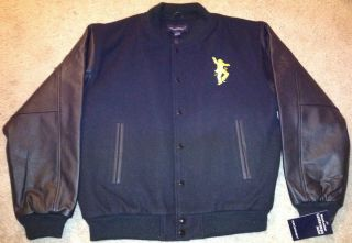 Leather Letterman Jacket SPECIAL Larry King Edition by Port Authority