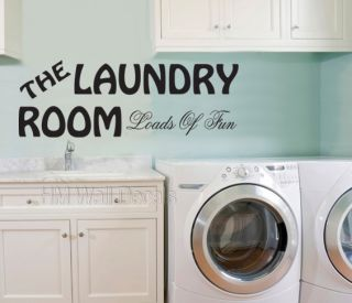 Laundry Room Wall Decal for Your Home 4 Designs in 12 Colours for You