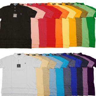 Mens Ralph Lauren Polo Mesh Classic Fit s s Pony Logo T Shirt Shirts