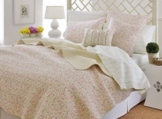 Laura Ashley Sophie Full Queen Quilt Set Pink