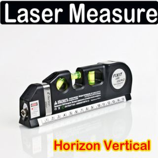 Laser Level Horizon Vertical Measure Tape 8ft Aligner