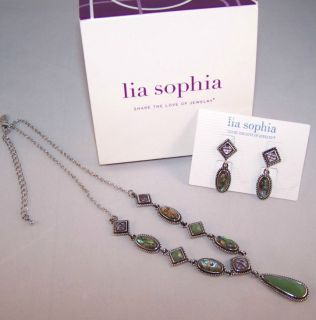 Lia Sophia Lauryn by Deb Necklace Earring Set Lot