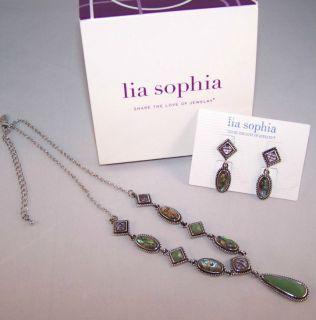 Lia Sophia Lauryn by Deb Necklace Earring Set Lot