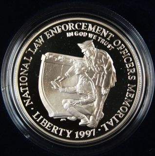 1997 National Law Enforcement Officers Commemorative Proof Coin In Box