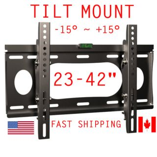 TV Wall Mount Tilt Plasma LCD LED 23 42 Sony Samsung LG TVs