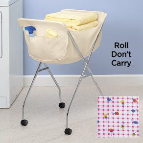 Laundry Cart Old Fashioned Basket Wheels Organize Liner Replacement