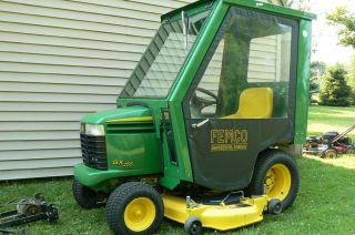 JOHN DEERE GX255 LAWN TRACTOR WITH 54 MOWER 42 SNOWBLOWER ENCLOSED CAB