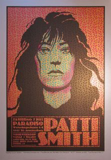 Patti Smith Screen Print by Chuck Sperry S N Silver Metallic Edition