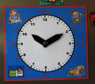 Kids Magnetic Learning Clock Help Your Child Learn to Tell Time The