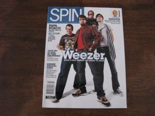 Magazine July 2002 Weezer Emimen Papa Roach No Doubt Layne Staley Rage