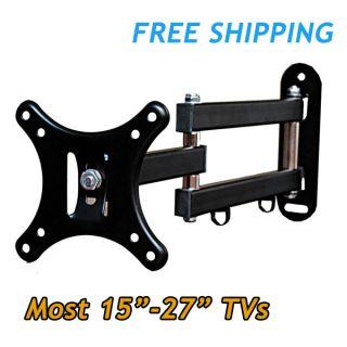 LED LCD Tilt Swivel Arm TV Wall Mount 15 18 19 22 23 24 27