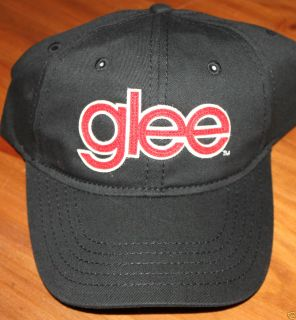 GLEE fox 3 Lea Michele sdcc dvd PROMO WMHS HAT Black Red Ball Cap Rare