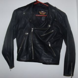 Harley Davidson Leather Jacket Kids Size M