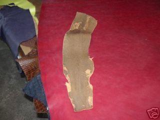 Genuine Shark Skin Fish Leather Hide Natural Tan Katana