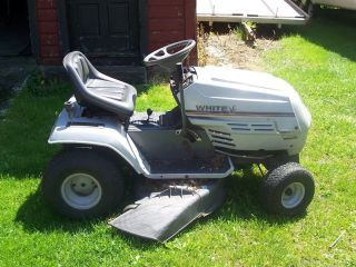 Used White Lt 14 Riding Lawn Mower