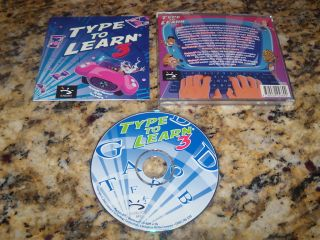 Type to Learn 3 III Windows Computer PC Game CD ROM XP Tested
