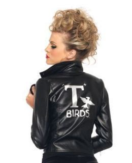 Grease Sandy T Birds Faux Leather Halloween Costume Jacket