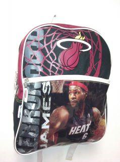 Lebron James Miami Heat New NBA Backpack 6 Champion