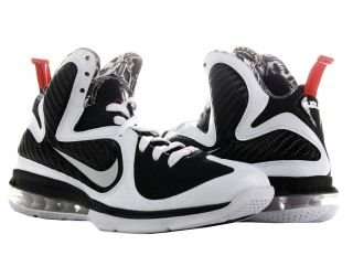 Nike Lebron 9 White White Black Sport Red Mens Basketball Shoes 469764