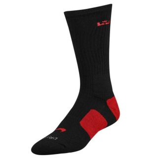 Free Shipping Worldwide Nike Lebron Elite Socks Black Red 2 0 Heat