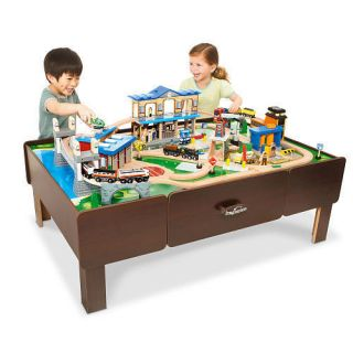 Central Train Station Play Table Learning Educational Kids Toys