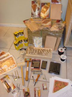 Leather Tools Huge Lot Leathercraft Leather Craft Tooling Tandy
