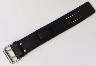 Harley Davidson Style Wide Plain Leather Watch Band USA Made