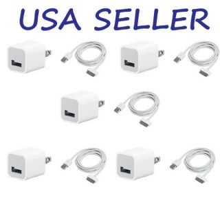 USB USA AC Power Adapter Wall Charger Plug+ SYNC Cable iPod iPhone