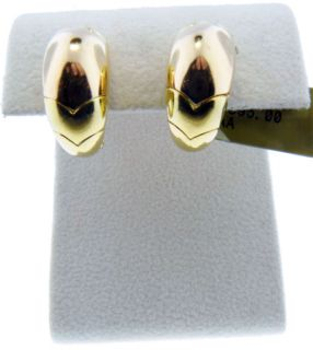Bulgari Bvlgari 18kt Yellow Rose Gold Hoop Earrings