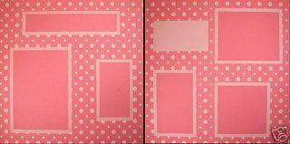 Leeza Gibbons Legacies Pink White Daisy Scrapbook Pgs