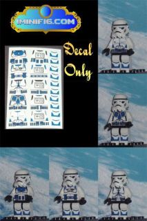 Custom Lego Star Wars Blue Clone Trooper Decals x 5