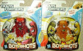 Transformers Bot Shots Bumblebee Sentinel Prime super bots mosc