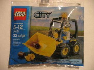 Lego City 30151 Mining Loader w Minifig NIB Gold Rock Hard to Find Gr8
