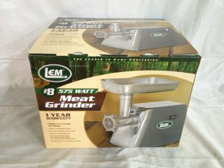 Lem 8 Countertop 575 Watt Electric Meat Grinder