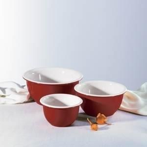 PC Corelle Cajun Red Classic Cafe Mixing Bowl Set New