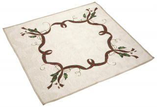 New One Lenox Christmas Holiday Nouveau Fabric Table Napkin 20x20