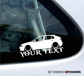 Custom Text Name Low Seat Leon MK1 1M Cupra 20VT TDI Sticker Decal