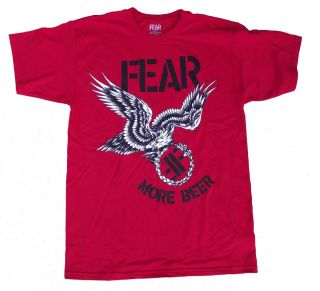 Fear More Beer Shirt Punk Lee Ving Adolescents