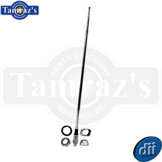 65 6 Chevy Rear Left Antenna Kit w Hardware Telescopic