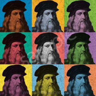 Leonardo Da Vinci T Shirt Pop Art Vintage Tee s 5XL