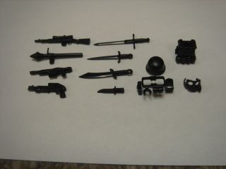 12 Pcs Lego Brick Arms Military Army Custom Minifig Weapons Vest Lot