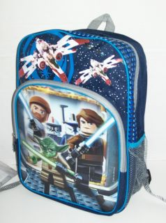 NWT Lego STAR WARS Hologram BACKPACK & LUNCH BOX Full Size Book Bag